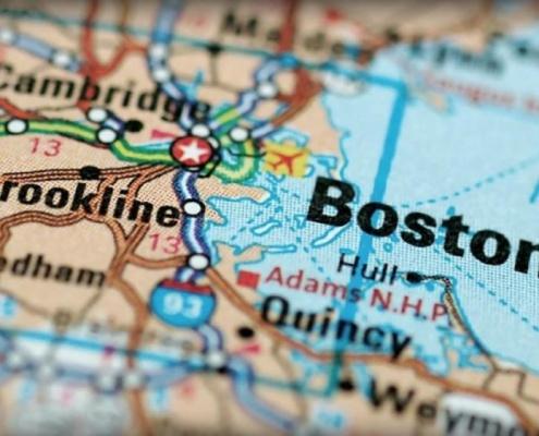 Map of Boston MA