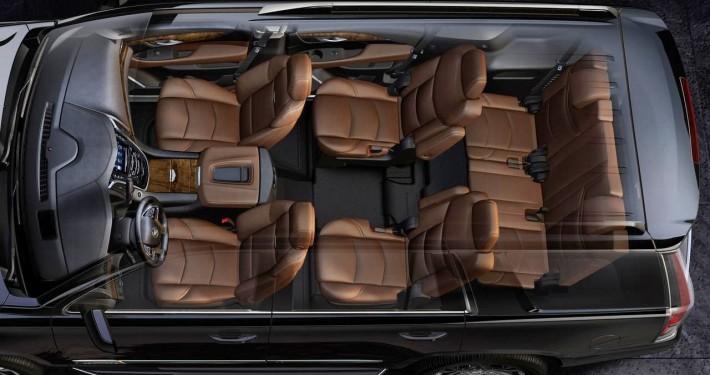 Cadillac Escalade interior captain seats Limo