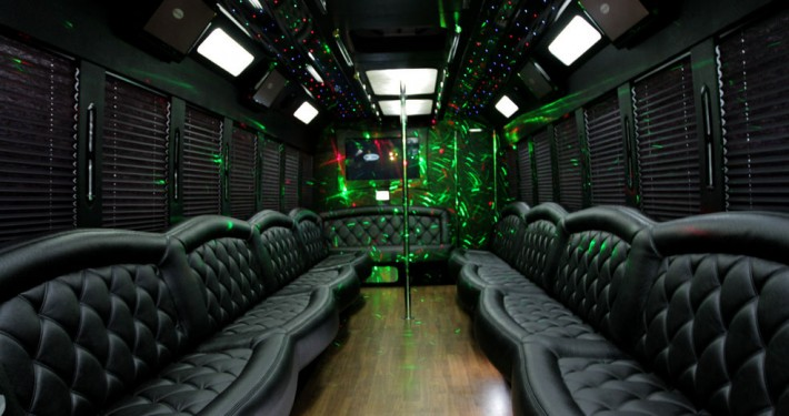 Limo Party Bus interior NYC