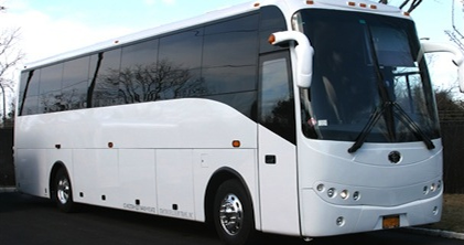 56-Passenger Luxury Motor Coach Bus accommodates large groups in style and comfort.