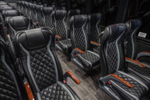 Chartered-Bus-luxury-rental-black-interior