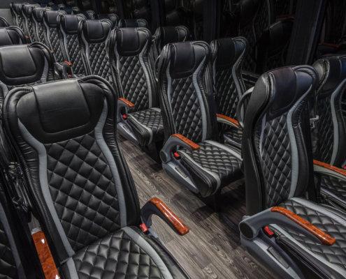 Chartered-Bus-luxury-rental-black-interior